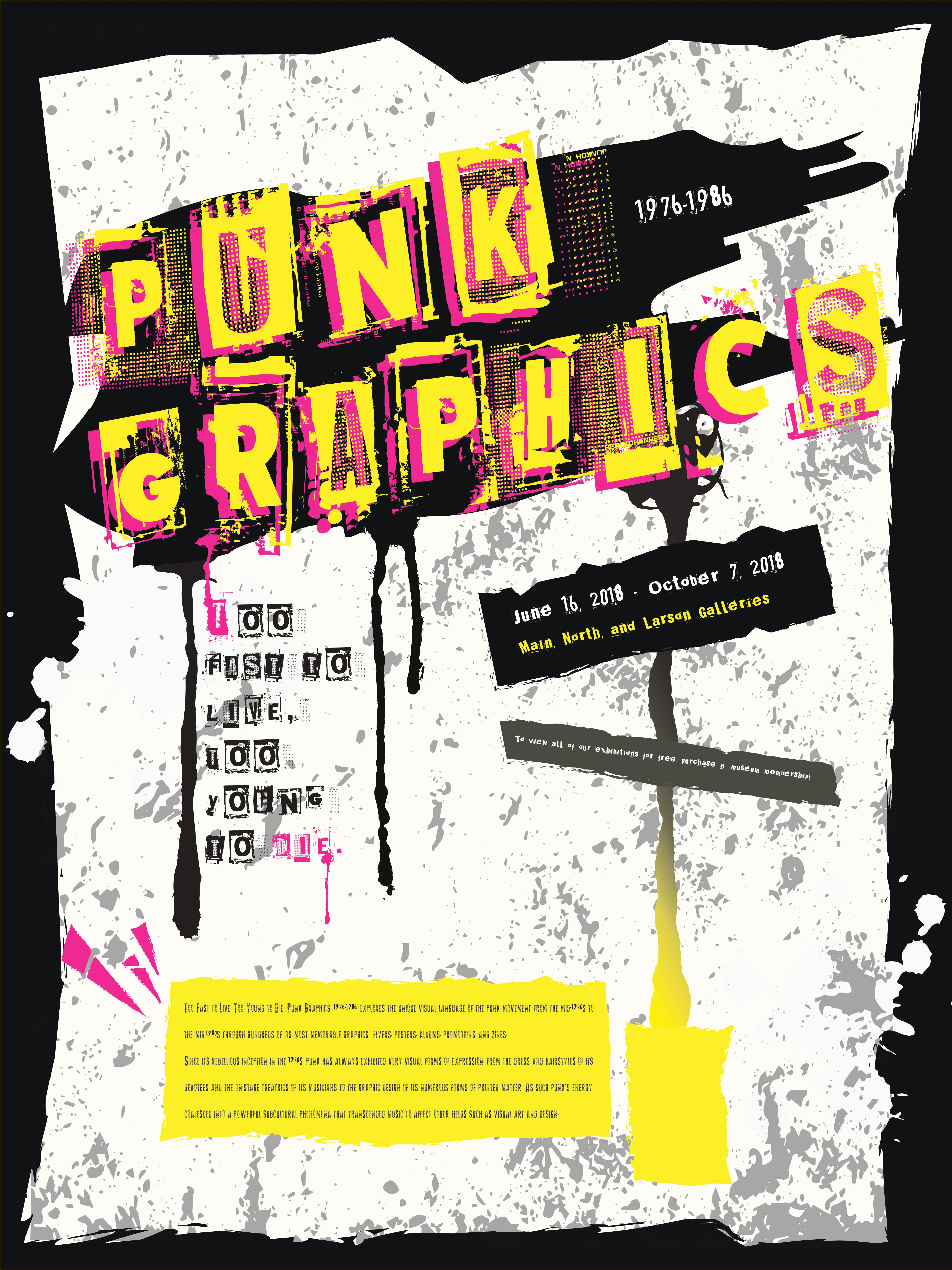 Graphic of a punk rock-esque poster