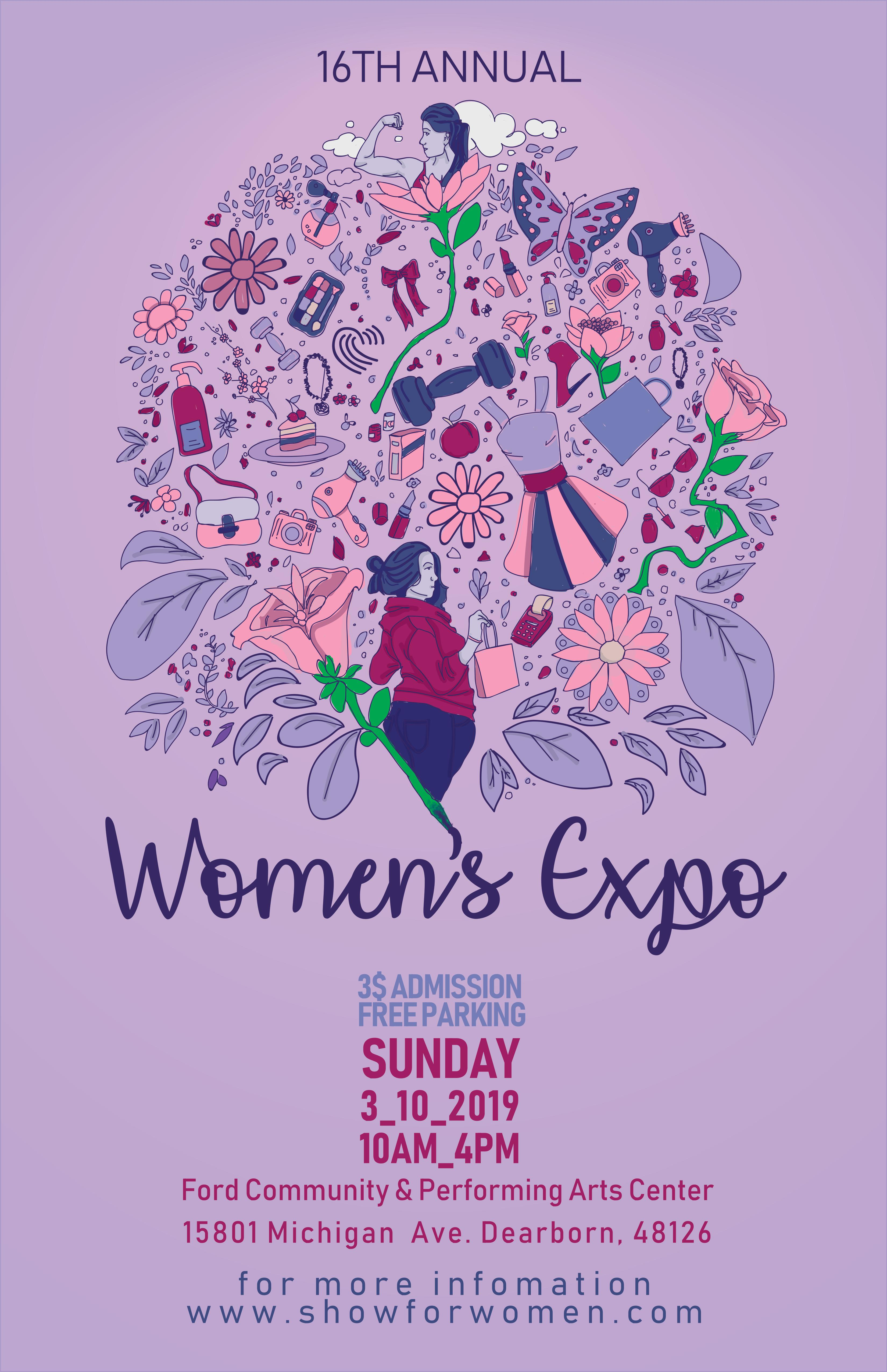 Image of a woman's expo poster