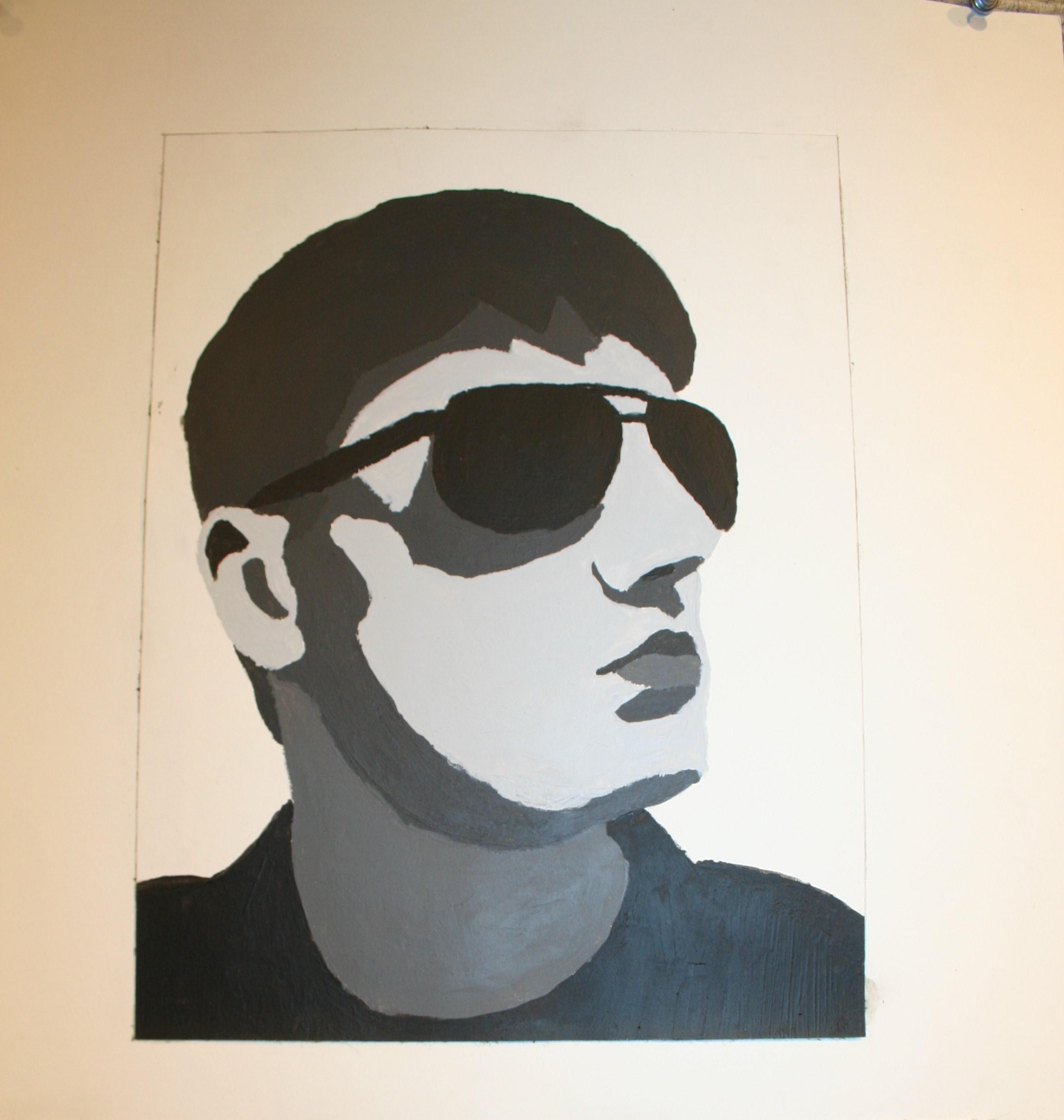 Image of a man wearing sunglasses