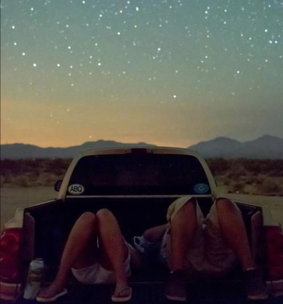 Stargazing car stock image