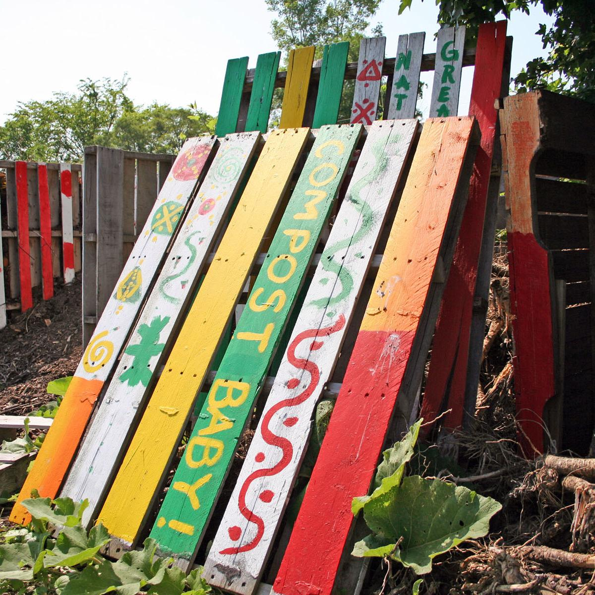 Photo of D-Town Urban Farm compost sign