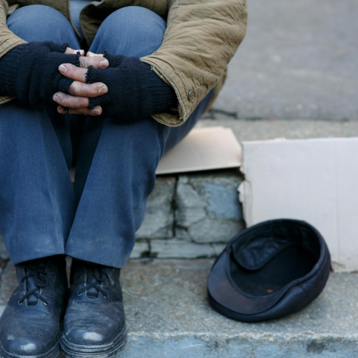 Homeless Individual stock photo