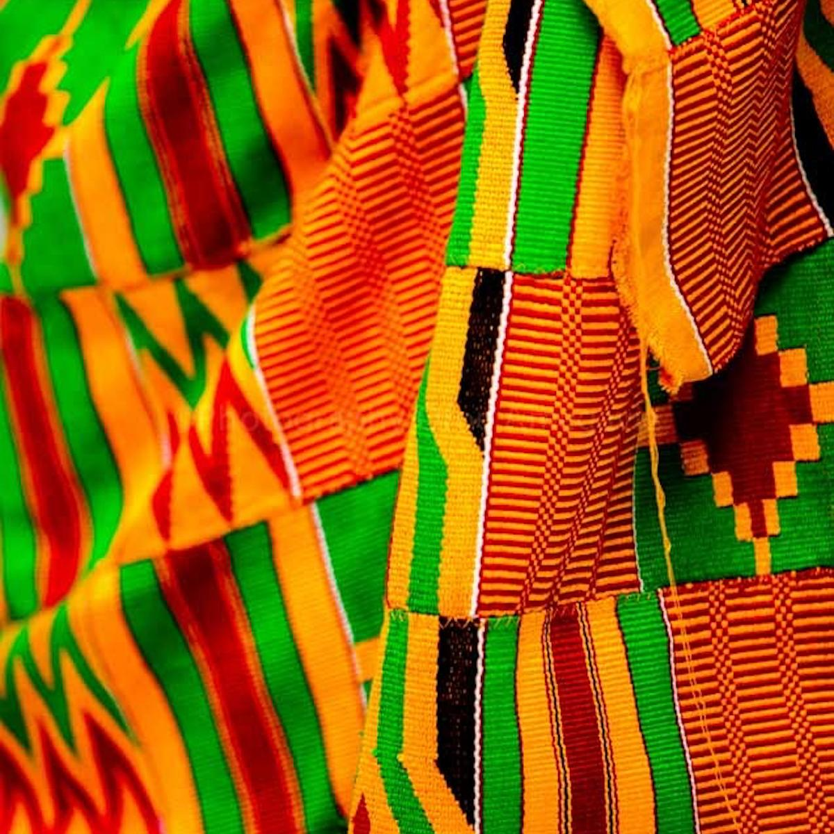 Closeup of Kente cloth