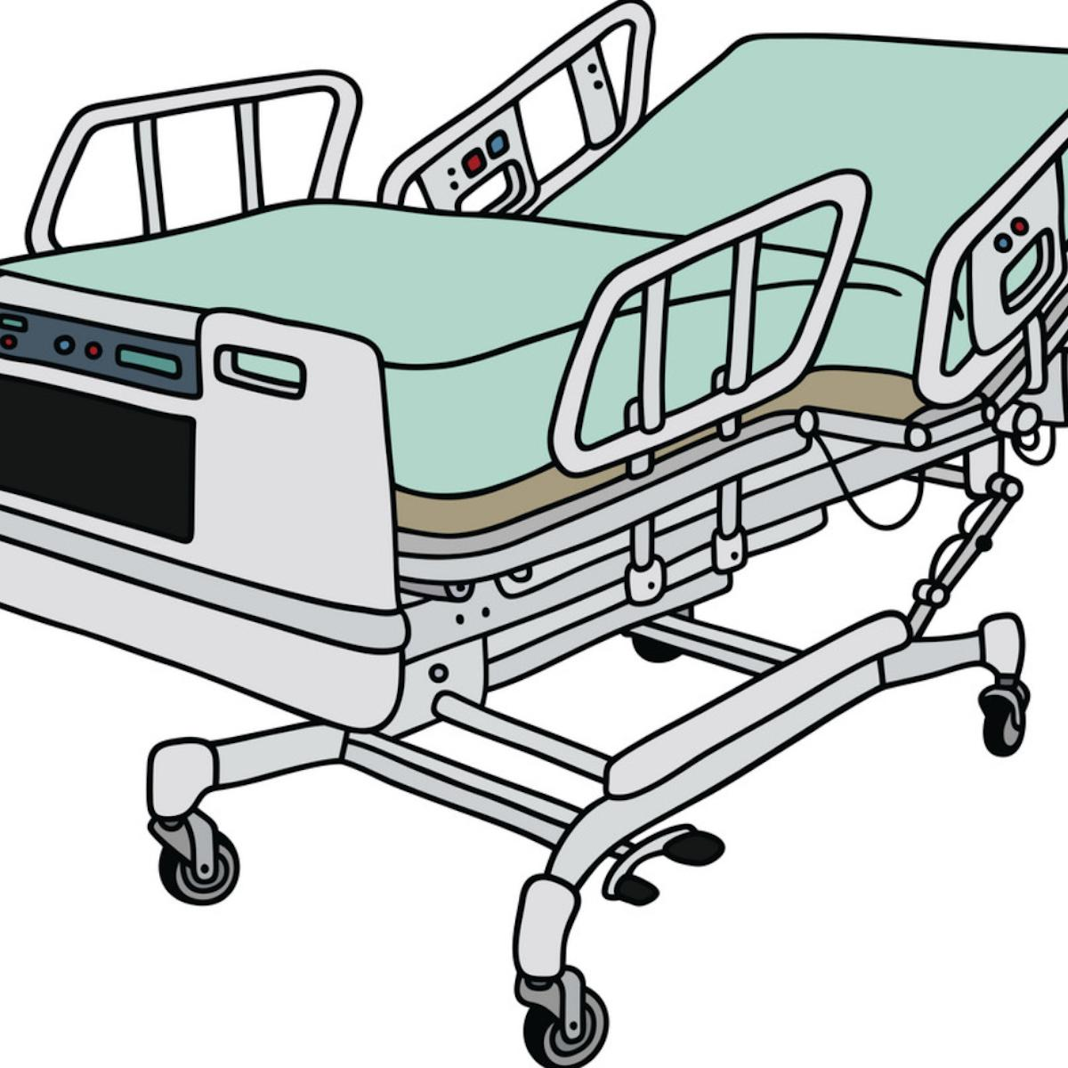 Stock drawing of hospital bed